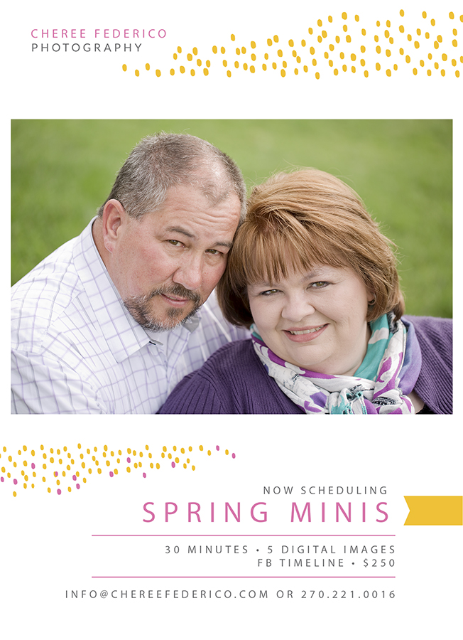 2016 Spring Mini Sessions, Cheree Federico Photography, Bowling Green KY Photographer