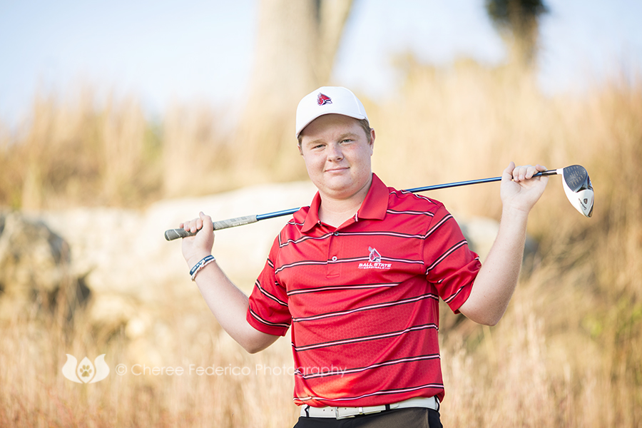 Cheree Federico Photography; Golf, Senior Portraits, Senior Guy, Golf Course, Bowling Green KY Photographer